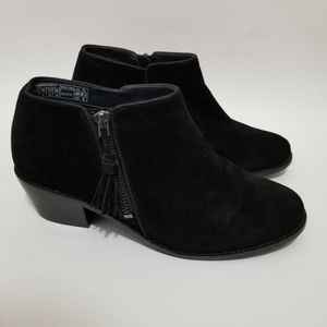 Vionic Serena Boots Suede Leather Booties Black
